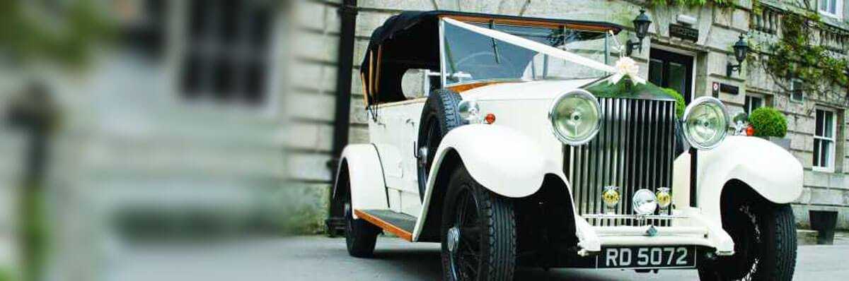 Vintage Rolls Royce Open Tourer wedding car