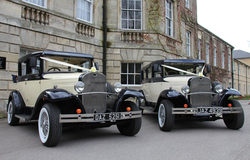 he Badsworth and Bramworth classic vintage wedding cars