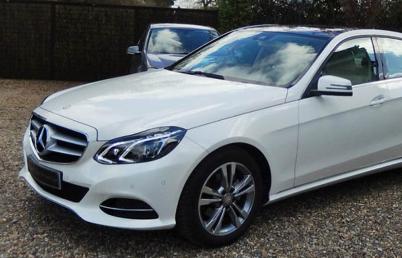 Mercedes e-class White executive wedding car