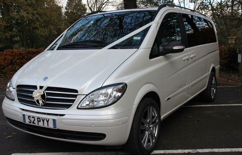 Mercedes Viano White executive wedding car