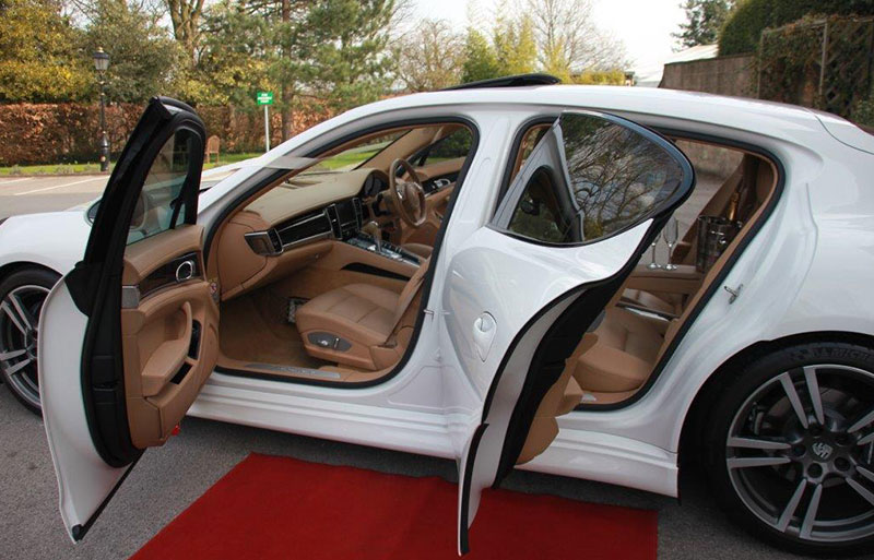 Mercedes E Class back seats pre wedding