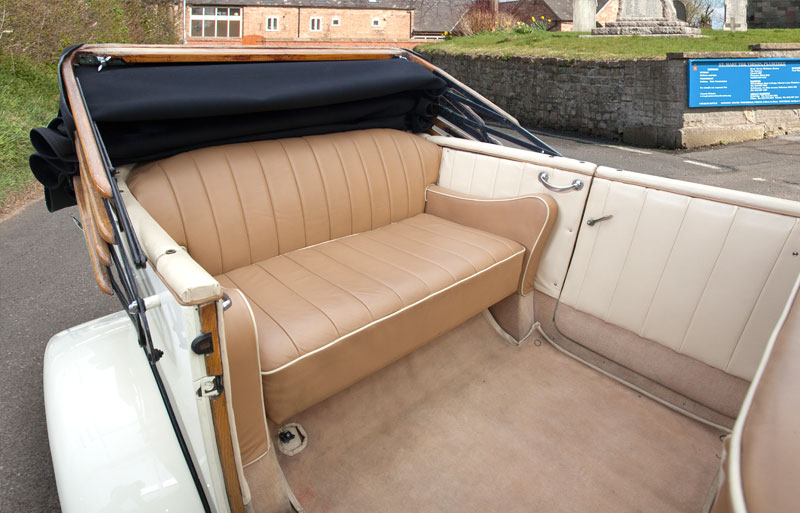 Inside view of the Rolls Royce Open Tourer