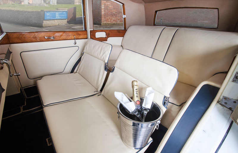 Great view of the inside of the Rolls Royce Limo
