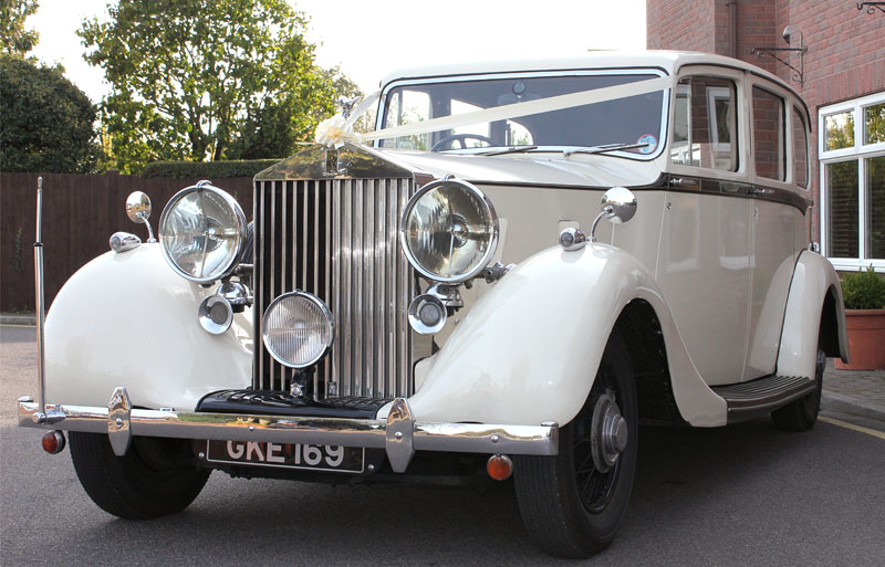 Rolls Royce Phantom III Wraith vintage wedding car