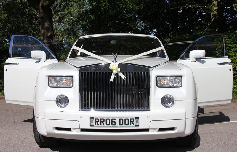 Rolls Royce Phantom wedding car interior