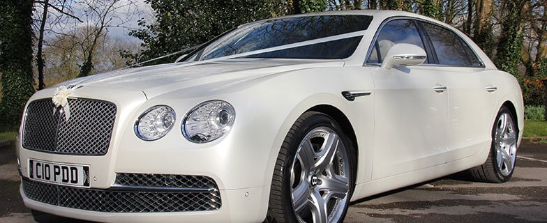 Bentley continental wedding car