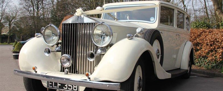 Rolls Royce Phantom III vintage wedding car