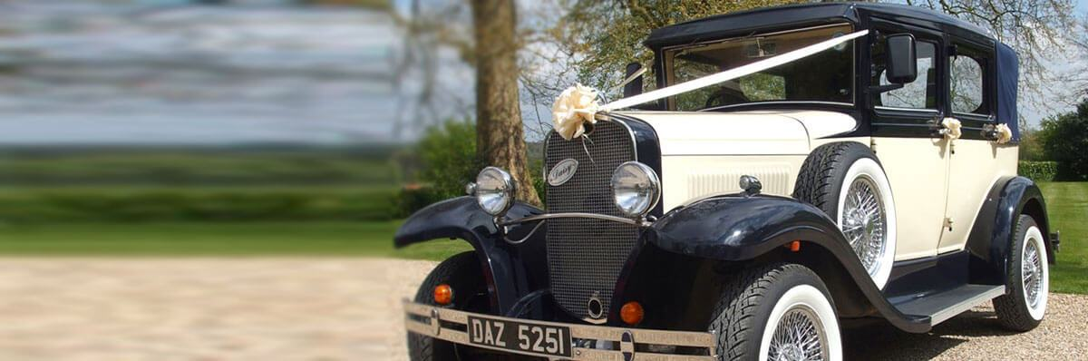 Vintage Beauford Open Tourer wedding car