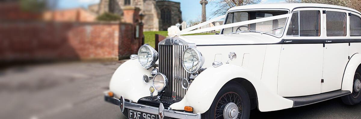 Vintage Rolls Royce Phantom III wedding car