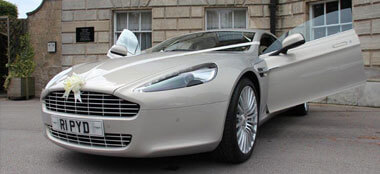 Aston Martin Rapide wedding car