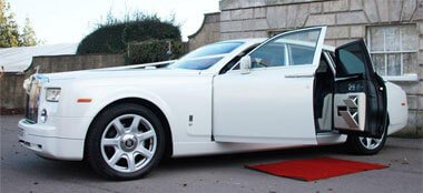 Pearl White Maybach wedding car