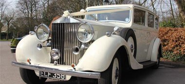 Rolls Royce Phantom III wedding car