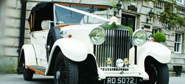 Rolls Royce Open Tourer wedding car